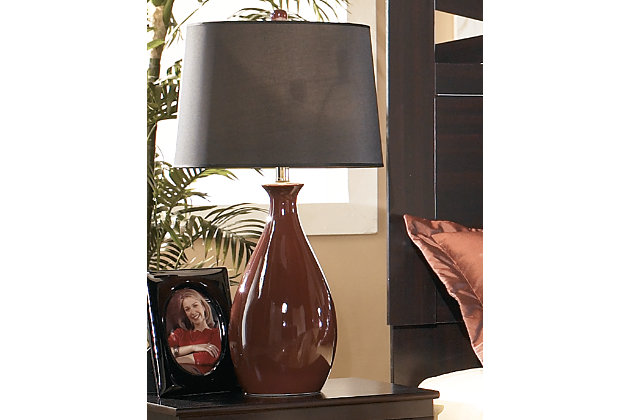 Jemma Table Lamp (Set of 2) by Ashley HomeStore, Red