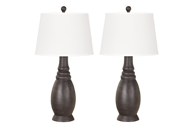 Black Sydna Table Lamp (Set of 2) by Ashley HomeStore