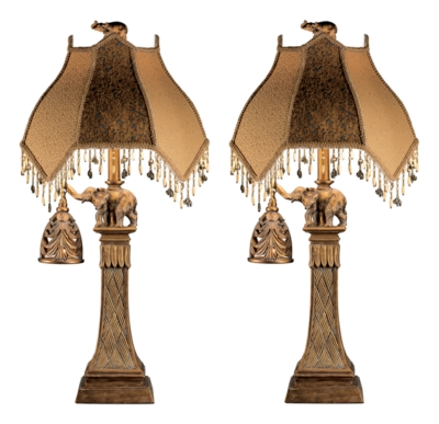 Dillian Table Lamp (Set of 2) by Ashley HomeStore, Bronze...