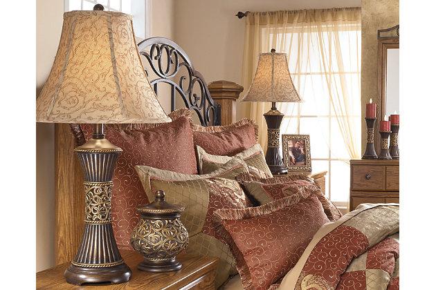 Mariana Table Lamp (Set of 2) by Ashley HomeStore, Bronze Finish