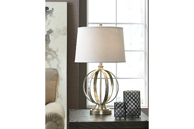 Silver Shaunnea Table Lamp by Ashley HomeStore