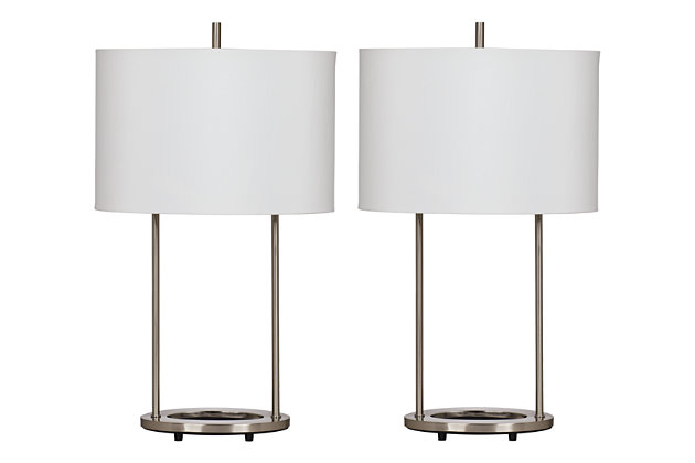 Nickel Finish Maisie Table Lamp (Set of 2) by Ashley HomeStore