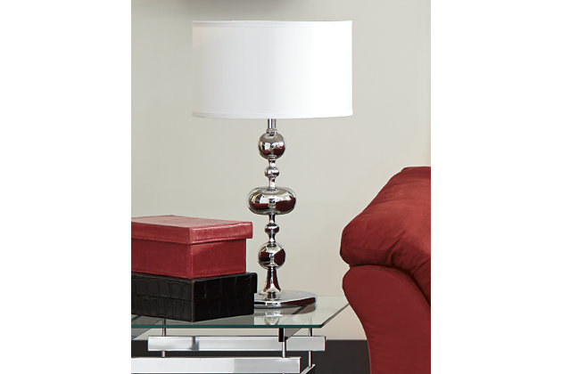 Raschel Table Lamp (Set of 2) by Ashley HomeStore, Chrome...