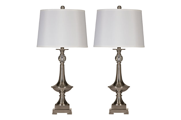 Silver Finish Newlyn Table Lamp (Set of 2) by Ashley HomeStore