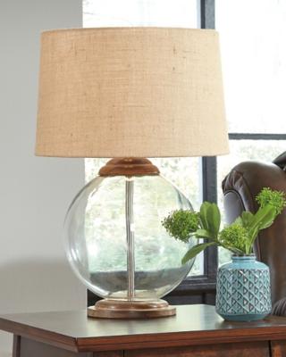 Ashley Shandel Table Lamp, Transparent