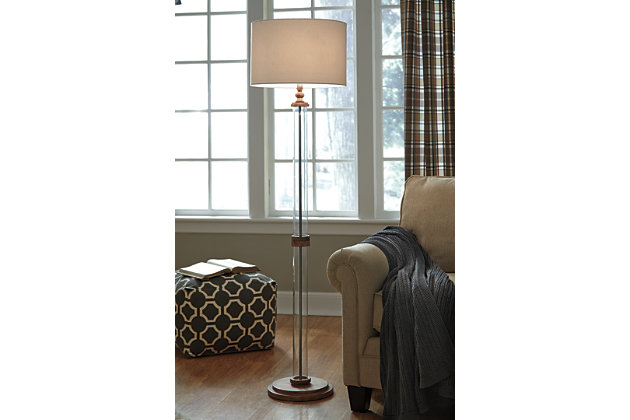 Tan Tabby Floor Lamp by Ashley HomeStore