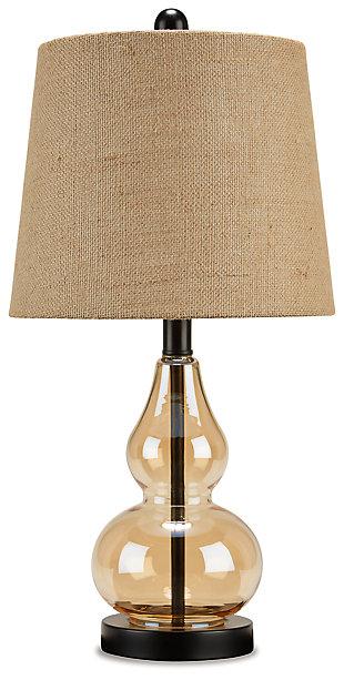 Makana Table Lamp, Champagne/Black, large