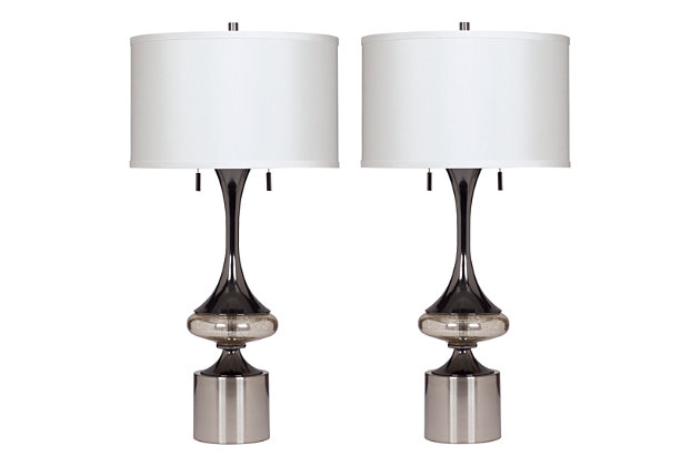 Tan Marsha Table Lamp (Set of 2) by Ashley HomeStore