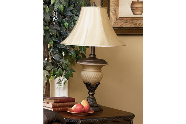 Danielle Table Lamp (Set of 2) by Ashley HomeStore, Bronz...