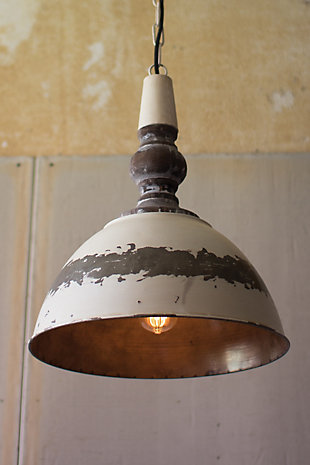 Antique Finish Metal Pendant Light, , rollover