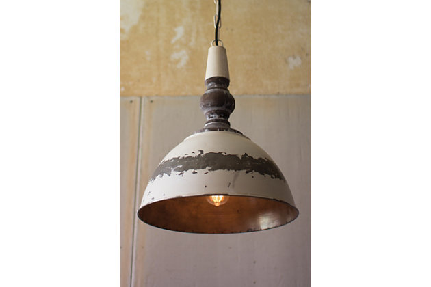 Antique Finish Metal Pendant Light, , large