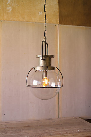 Glass Globe Pendant Light, , large