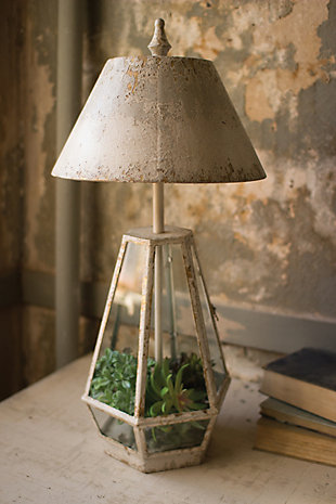 Terrarium Lamp with Metal Shade, , large