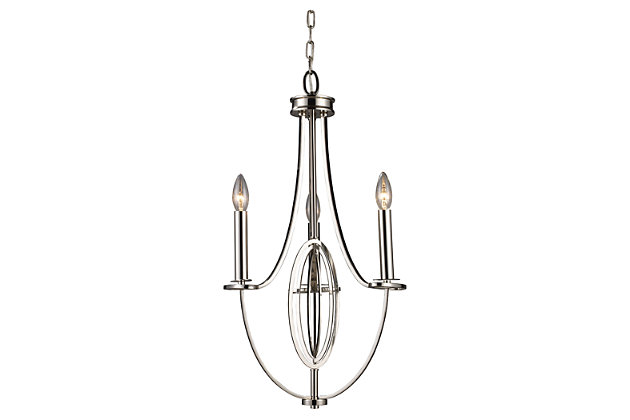 Dione Chandelier in Polished Nickel Finish, , large