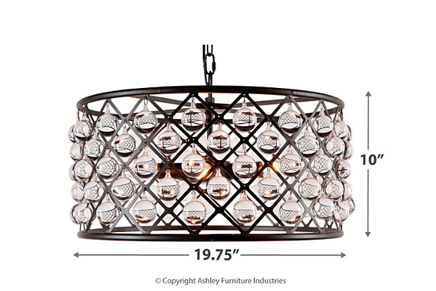 Home Accents Crystal Lattice Chandelier, , large
