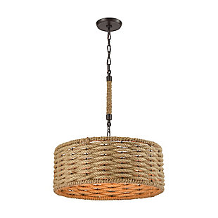 Weaverton Chandelier in Oil Rubbed Bronze Finish, , rollover