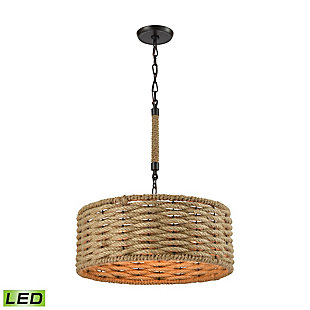 Weaverton LED Chandelier in Oil Rubbed Bronze Finish, , rollover