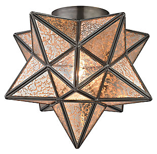 Moravian Star Flush Mount in Bronze Finish, , large