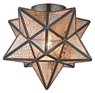 Moravian Star Flush Mount in Bronze Finish, , large