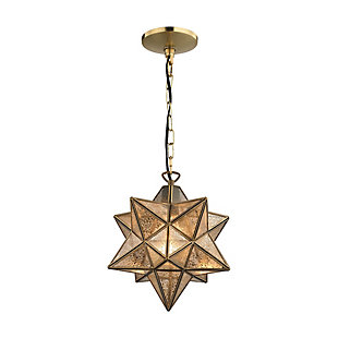 Moravian Star Pendant in Gold Finish, , rollover