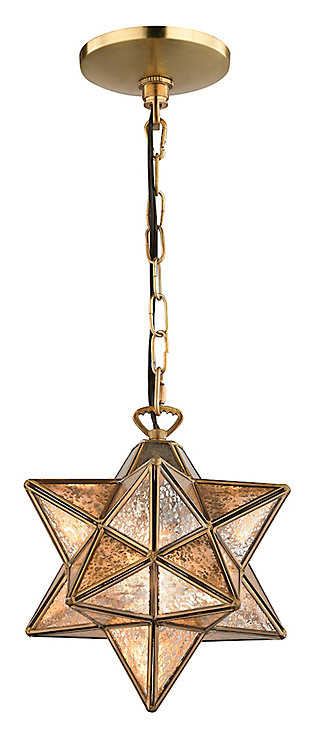 Moravian Star Pendant in Gold Finish, , large