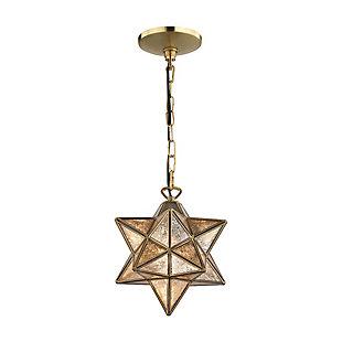 Moravian Star Pendant in Gold Finish, , rollover