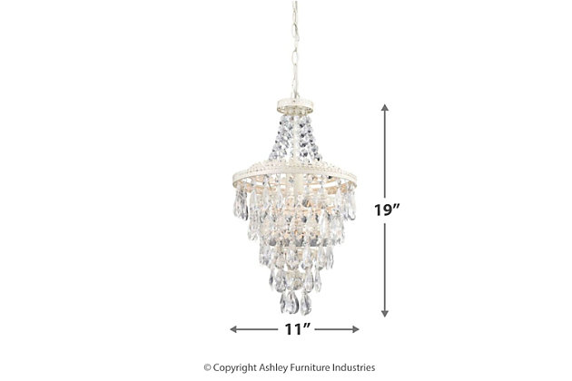 Clear Crystal Pendant Lamp, , large
