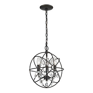 Clear Crystal Globe Pendant Light, , rollover