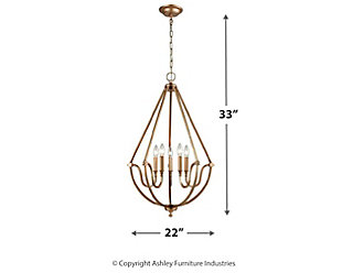 Mahin Chandelier in Matte Gold Finish, , large