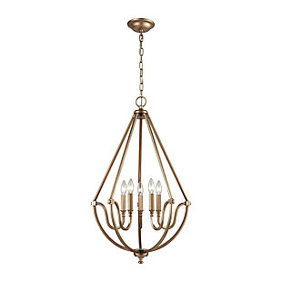 Mahin Chandelier in Matte Gold Finish, , rollover