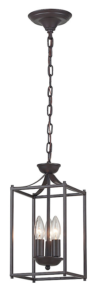 Rustic Iron Lantern, , large
