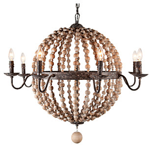 Superieur Home Accents Wooden Beaded Chandelier, ...