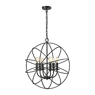 Yardley Chandelier in Oil Rubbed Bronze Finish, , rollover