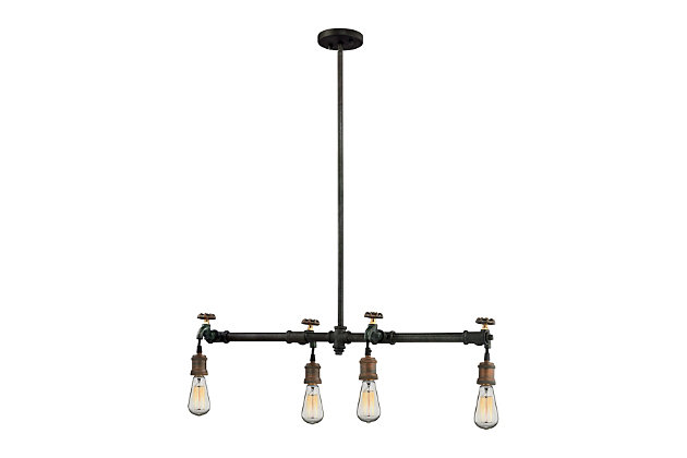 Jonas Chandelier in Multitone Weathered Finish, , large
