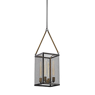 Donovan Chandelier in Wrought Iron Black And Antique Gold Finish, , rollover