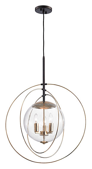 Zonas Chandelier Chandelier in Polished Gold Finish and Rubbed Bro, , large
