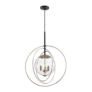 Zonas Chandelier Chandelier in Polished Gold Finish and Rubbed Bro, , rollover