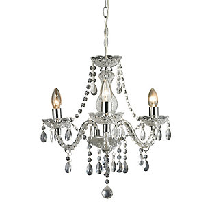 Three Light Clear Mini Chandelier, , rollover