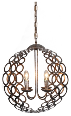 Ashley Home Accents Chandelier, Bronze Finish