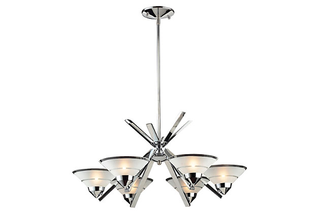 Refraction Collection Chandelier, , large