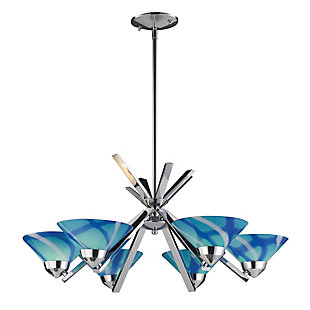 Refraction Collection Chandelier, , rollover