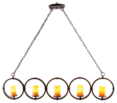 Home Accents Faux Pillar Candle Chandelier by Ashley Home...