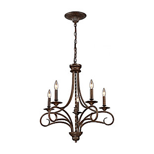 Silhouette Chandelier in Antique Bronze Finish, , rollover