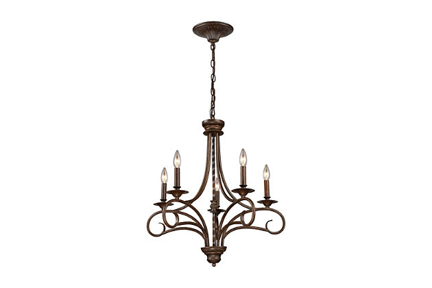 Silhouette Chandelier in Antique Bronze Finish, , large