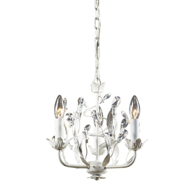 Circeo Chandelier in Antique Bronze Finish, Antique White, large