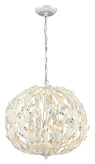 Ella Elaine Chandelier in Pearl White, , large