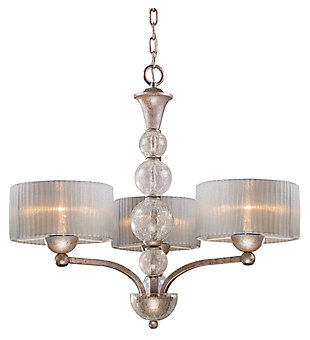 Tilton Chandelier in Antique Silver Finish, , large