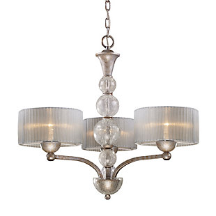 Tilton Chandelier in Antique Silver Finish, , rollover