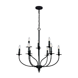 Hart Nine Light Chandelier, , rollover