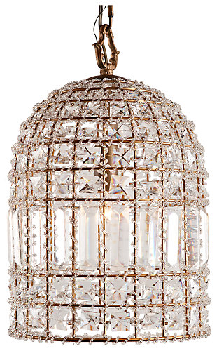 Home Accents Glass Crystal Chandelier, ...
